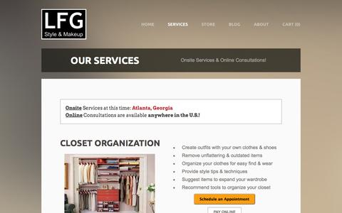 Screenshot of Services Page lfgstyle.com - Services - LFG Style - captured Oct. 1, 2014