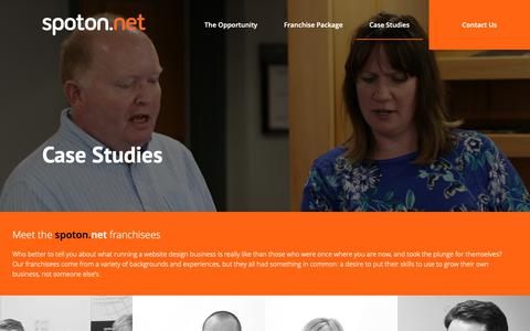 Screenshot of Case Studies Page spoton.net - Franchisee Case Studies - spoton.net Website Design Business - captured Nov. 16, 2018