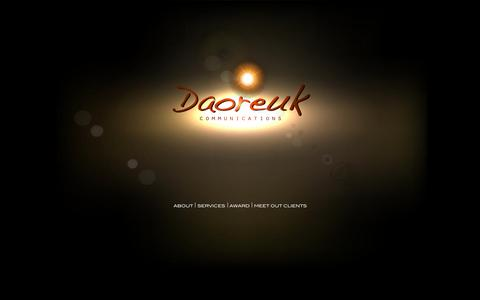 Screenshot of Home Page daoreuk.com - DAOREUK   HOME - captured March 13, 2016