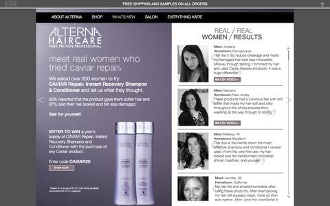 Screenshot of Testimonials Page alternahaircare.com - Alterna Haircare | Testimonials - captured Sept. 19, 2014