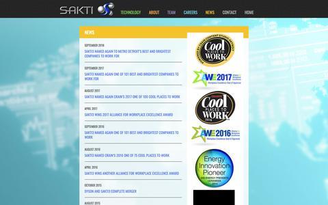 Screenshot of Press Page sakti3.com - News   Sakti - captured Oct. 19, 2018