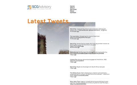 Screenshot of Press Page scgadvisory.com.au - SCG Advisory - test - captured Sept. 30, 2014