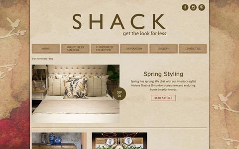 Screenshot of Blog shack.com.au - Blog - captured Oct. 23, 2017
