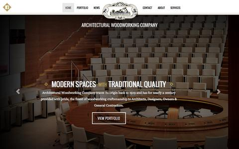 Screenshot of Home Page awcla.com - AWC Architectural Woodworking Company - captured Oct. 4, 2014