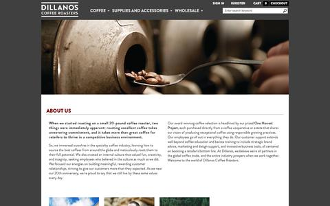 Screenshot of About Page dillanos.com - About - captured Nov. 20, 2018