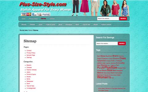 Screenshot of Site Map Page plus-size-style.com - Sitemap   Plus-Size-Style - captured Oct. 31, 2014