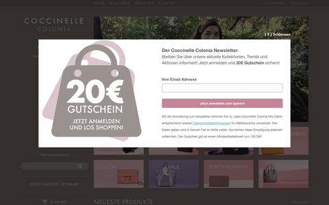 Screenshot of Home Page coccinelle-colonia.de - Coccinelle Taschen von Coccinelle Colonia - captured April 3, 2017