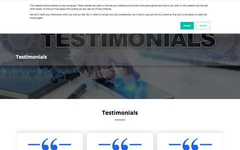 Screenshot of Testimonials Page testingxperts.com - Testimonials | TestingXperts - captured Aug. 12, 2019