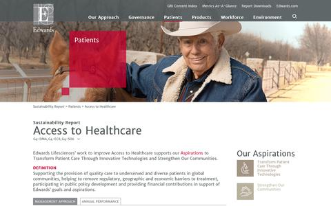Edwards 2016 Sustainability Report   Access to Healthcare
