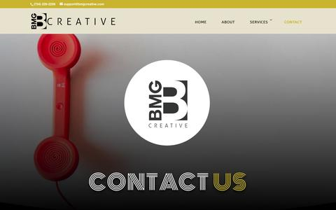 Screenshot of Contact Page bmgcreative.com - Contact - BMG Creative - captured Aug. 17, 2019