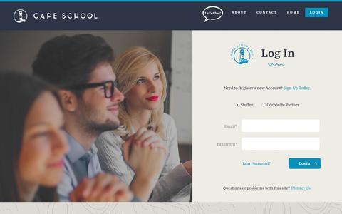 Screenshot of Login Page capeschool.com - Log In - captured Sept. 26, 2018