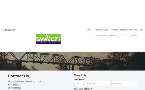 Screenshot of Contact Page switchrealty.com.au - Switch Realty - Contact - captured Sept. 21, 2018