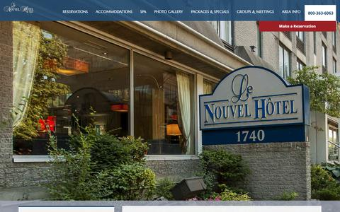 Screenshot of Site Map Page lenouvelhotel.com - Sitemap - captured Sept. 27, 2018