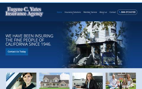Screenshot of Home Page eugenecyates.com - Eugene C. Yates Insurance Agency - captured Sept. 29, 2018