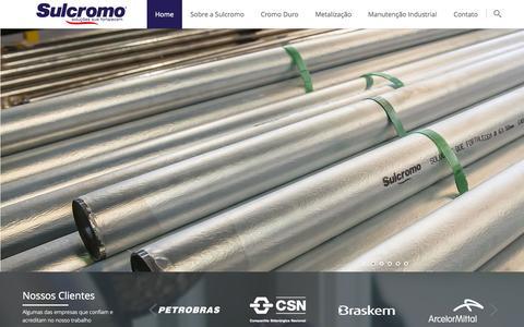 Screenshot of Home Page sulcromo.com.br - Sulcromo - Soluções que fortalecem - captured Oct. 6, 2014