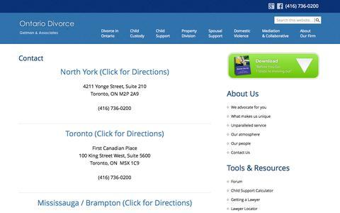 Screenshot of Contact Page Maps & Directions Page lisagelman.com - Contact Information Gelman & Associates - captured Oct. 22, 2014