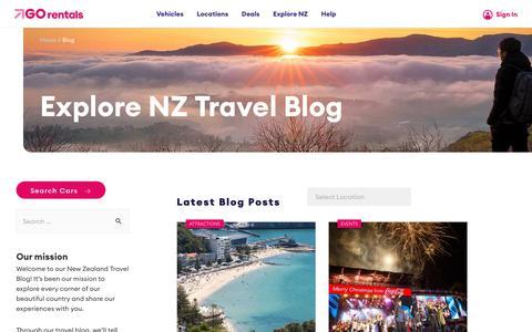 Screenshot of Blog gorentals.co.nz - Blog - Go Rentals - captured Nov. 5, 2019
