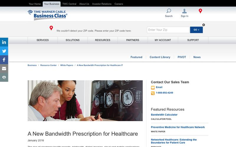 A New Bandwidth Prescription for Healthcare IT