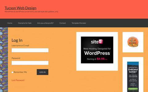 Screenshot of Login Page tucson-webdesign.com - Log In - captured Feb. 22, 2016