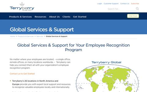 Screenshot of Trial Page terryberry.com - Employee Recognition Program Global Services & Support - captured Nov. 14, 2016