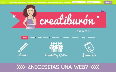 Screenshot of Home Page creatiburon.com - Creatiburón, diseño de páginas web - captured Sept. 22, 2014