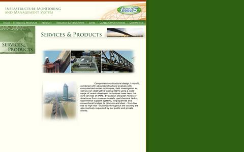 Screenshot of Products Page immsgroup.com - IMMS - Infrastructure Monitoring and Management System - captured Oct. 26, 2018