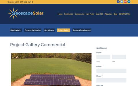 Screenshot of Case Studies Page geoscapesolar.com - Project Gallery Commercial | Geoscape Solar - captured July 17, 2018