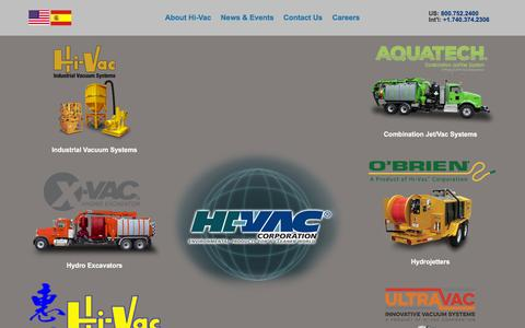 Screenshot of Home Page hi-vac.com captured Jan. 29, 2016