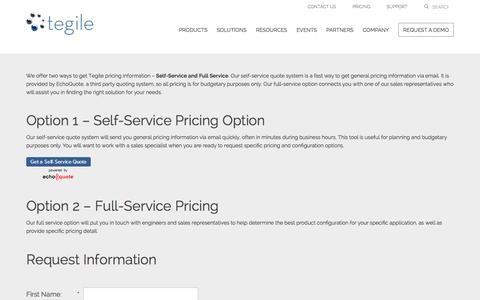 Screenshot of Pricing Page tegile.com - Tegile Pricing, Flash Storage Prices   Tegile - captured Dec. 4, 2015