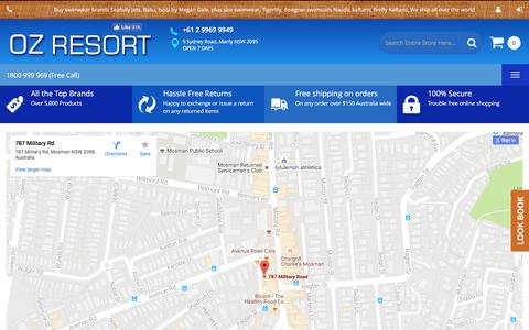 Screenshot of Contact Page ozresort.com.au - Contact Us - captured Dec. 1, 2016