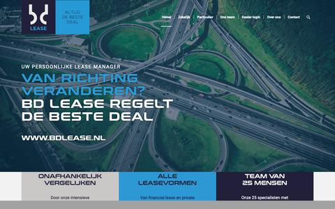 Screenshot of Home Page bdlease.nl - Home » BD Lease - captured Feb. 15, 2019
