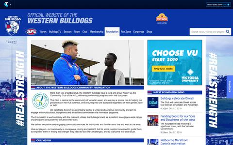 Screenshot of About Page westernbulldogs.com.au - About Us - westernbulldogs.com.au - captured Oct. 19, 2018