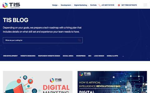 Screenshot of Blog tisindia.com - Digital Marketing Agency - TIS India Blog - captured Jan. 21, 2020