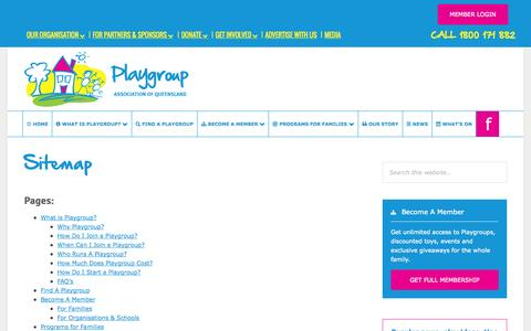 Screenshot of Site Map Page playgroupqueensland.com.au - Sitemap | Playgroup Queensland - captured Nov. 2, 2014