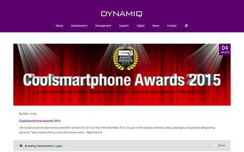 Screenshot of Press Page dynamiqmanagement.co.uk - News - DYNAMIQ - captured Jan. 7, 2016