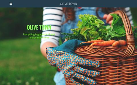 Screenshot of Home Page sgnarin.com - OLIVE TOWN - Home - captured Jan. 23, 2015
