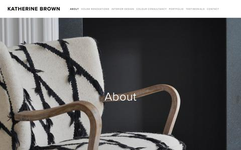 Screenshot of About Page katherine-brown.com - About — Katherine Brown - captured Oct. 17, 2017