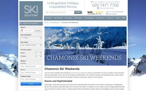 Chamonix Ski Weekends | France | Ski Solutions
