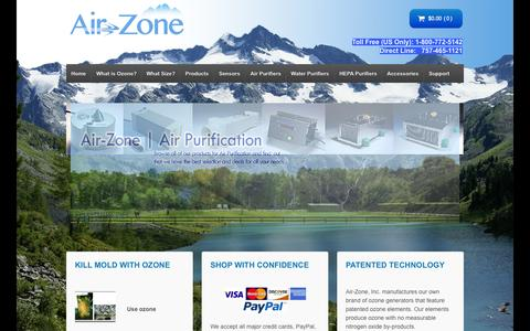 Screenshot of Home Page air-zone.com - Air-Zone - captured June 18, 2015
