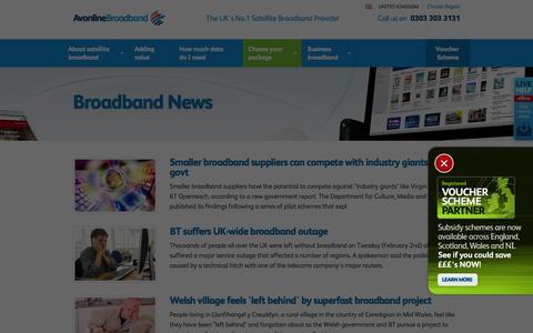 Screenshot of Press Page avonlinebroadband.com - Latest Satellite Broadband News - Avonline Satellite Broadband - captured Feb. 6, 2016