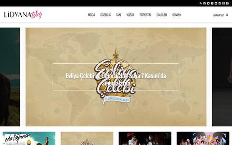 Screenshot of Blog lidyana.com - Lidyana Blog   Modayı Keşfet! - captured Oct. 29, 2014