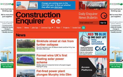 Screenshot of Press Page constructionenquirer.com - News Ι   Construction Enquirer - captured Oct. 26, 2015