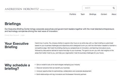 Briefings – Andreessen Horowitz