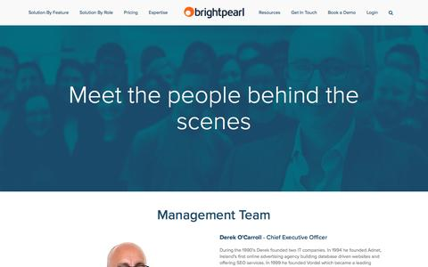 Screenshot of Team Page brightpearl.com - Our People — Brightpearl - captured Aug. 19, 2016