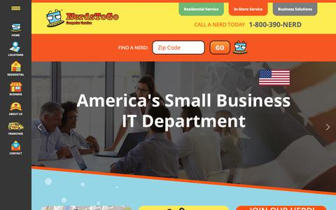 Screenshot of Home Page nerdstogo.com - Computer Repair Services & Solutions for Residential & Small Business - captured Nov. 7, 2018