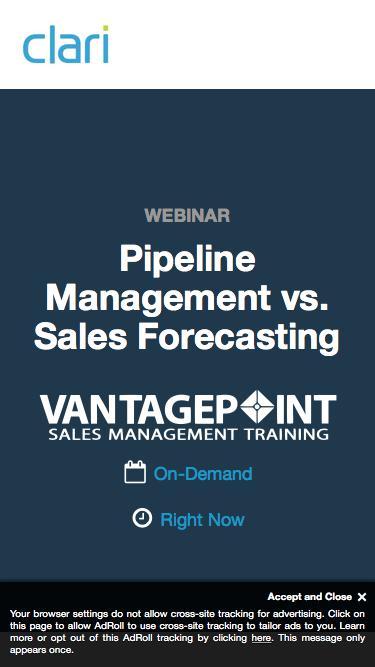 Webinar on Demand: Pipeline Management vs. Sales Forecasting