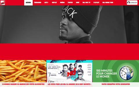 Screenshot of Home Page nrj.be - NRJ Belgique : HIT MUSIC ONLY - captured Aug. 8, 2018