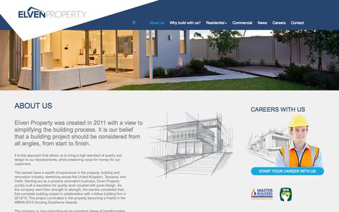 Screenshot of About Page elvenproperty.com.au - About us - captured Oct. 2, 2014
