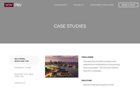 Screenshot of Case Studies Page wwstay.com - Case Studies | WWStay - captured Sept. 24, 2018