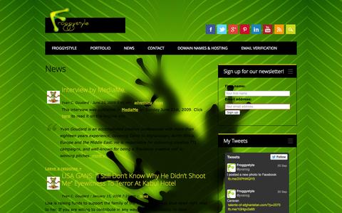 Screenshot of Press Page froggystyle.biz - News about Froggystyle or advertising in general - captured Sept. 26, 2014